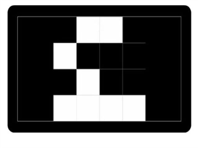 Teraz to trochu sťažíme a zvýšime počet štvorcov. Prezrite si obrázok, zapamätajte pozície bielych štvorcov a potom zvoľte OK