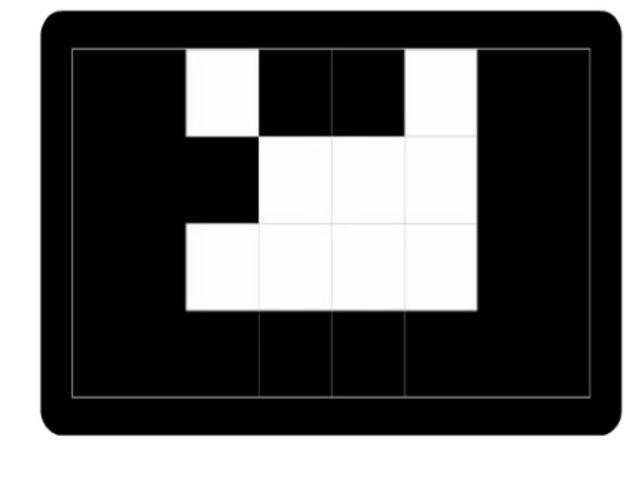 Prezrite si druhý obrázok a určte ktorý štvorec je biely na tomto a bol aj na predchádzajúcom obrázku. Potom zvoľte OK