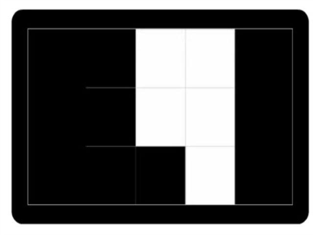 Teraz sa dobre pozrite na nasledujúci obrázok a skúste si zapamätať pozície bielych štvorcov. Keď si pozície zapamätáte, zvoľte OK. Následne sa vám objaví druhý obrázok s bielymi štvorcami a porovnajte si ho v pamäti z predchádzajúcim. Jeden štvorec bude biely na obidvoch obrázkoch. Dokážete určiť, ktorý?
