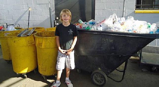 chlapec recyklacia