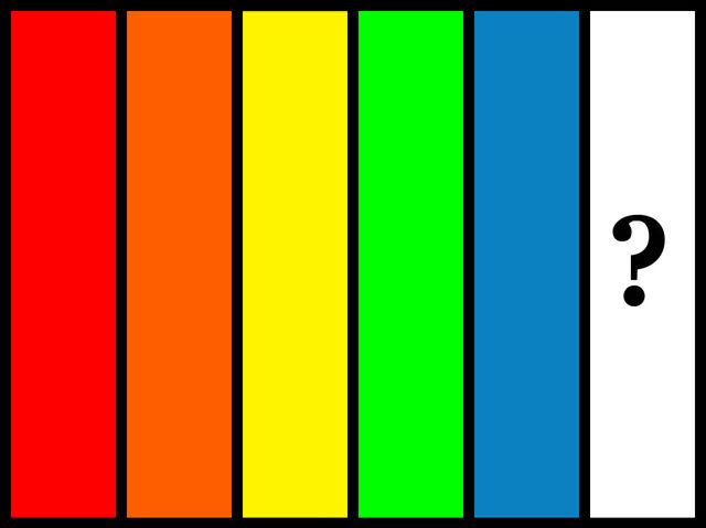 Ktorá farba chýba v tejto postupnosti?