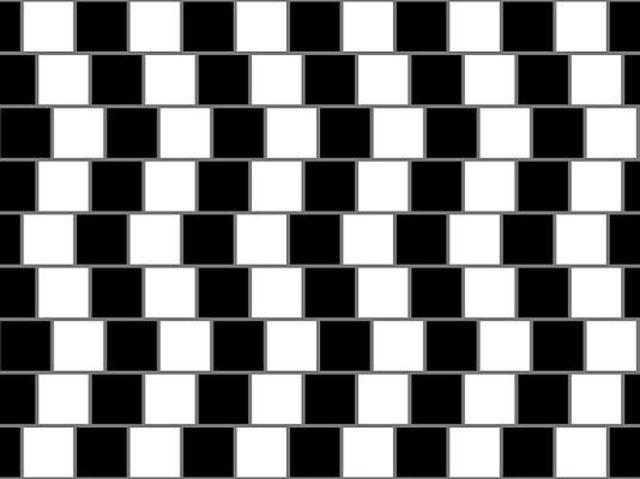 Sú všetky čiary na obrázku rovné?