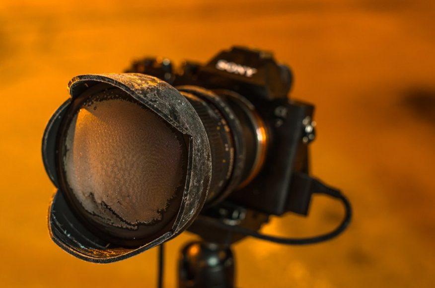 Omrznutý fotoaparát počas nočného fotenia v Terchovej