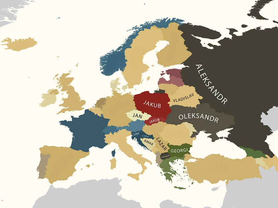 7fcba39b3 Aké sú najčastejšie mužské mená v Európe?   interez.sk