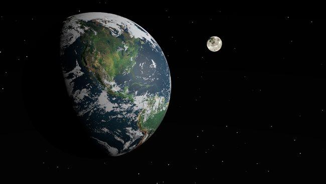 Mesiac obehne Zem za...