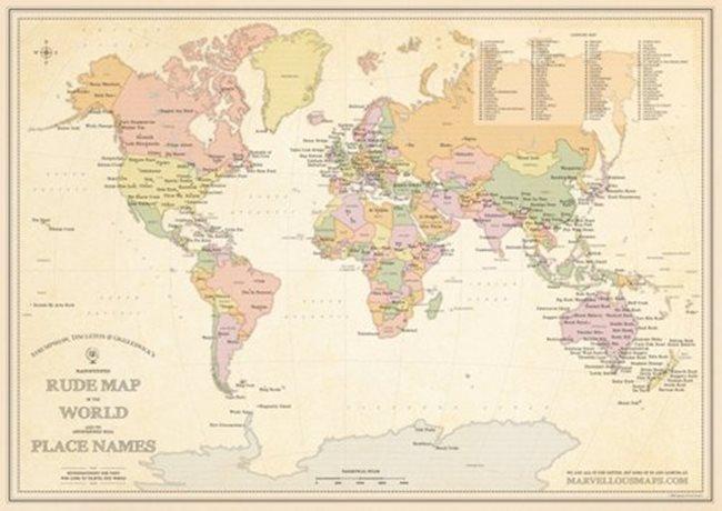 f733d4800 Fotogaléria - Mapa s najoplzlejšími názvami miest na svete. Ktorá slovenská  obec sa do nej dostala? | interez.sk