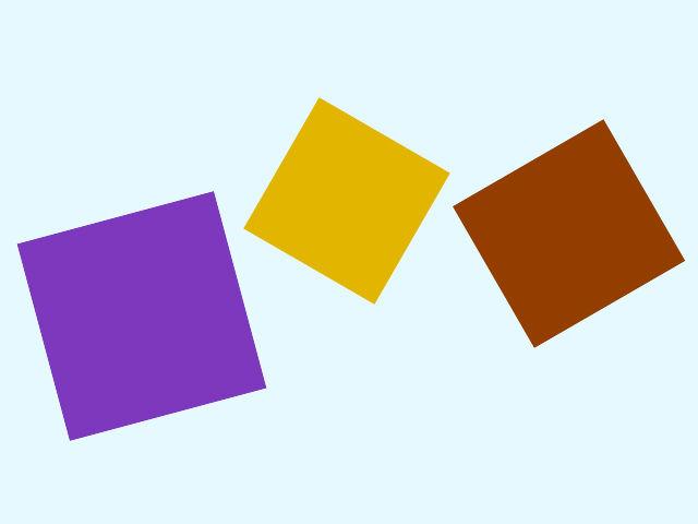Ani na tomto obrázku nie sú všetky tri tvary štvorce. Ktorý tam nepatrí?
