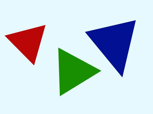 Ktorý z týchto trojuholníkov nemá také tvary, ako tie ostatné?