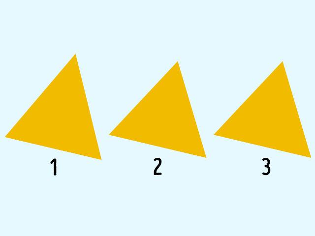 Pritvrdíme. Ktorý z týchto trojuholníkov sem nepatrí?