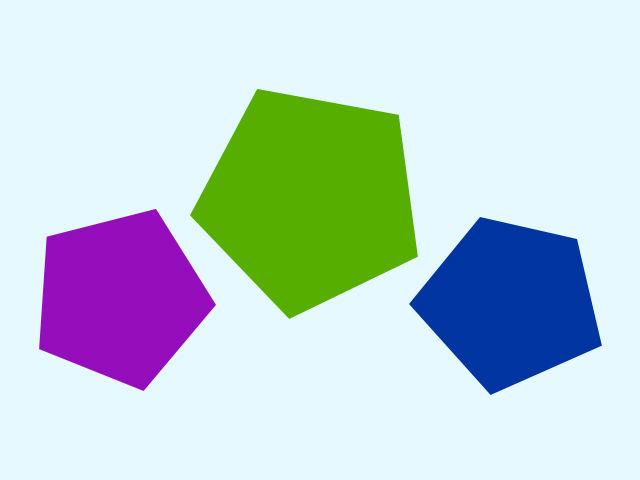 Jeden z týchto päťuholníkov nemá pravidelný tvar. Ktorý?