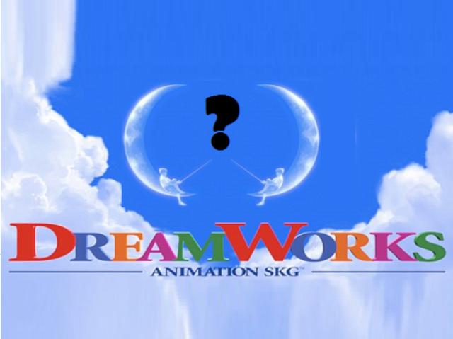 Na logu spoločnosti DreamWorks sedí na mesiaci chlapec, ktorý akoby lovil ryby. Aké písmeno pripomína tvar mesiaca? D alebo C?
