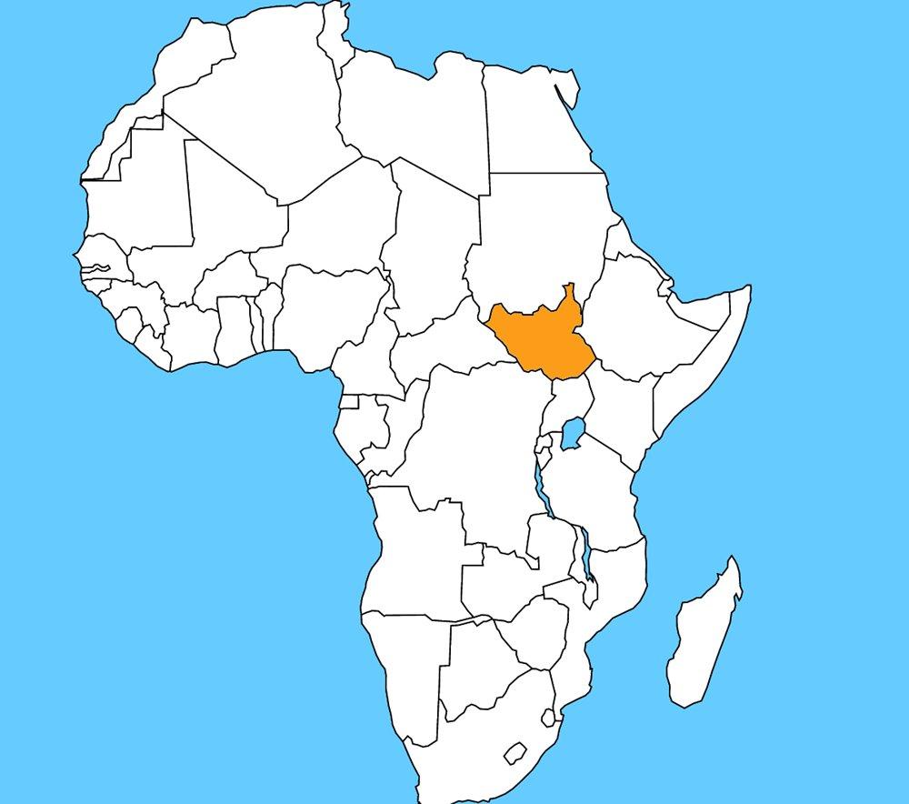 Najmladšia africká krajina, vznikla v roku 2011. Je to: