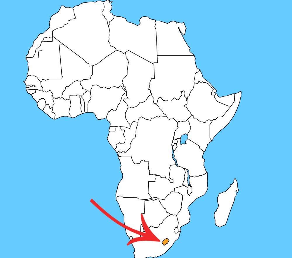 Štát v štáte, ktorého jediným susedom je Juhoafrická republika. Ako sa volá tento malý štát?