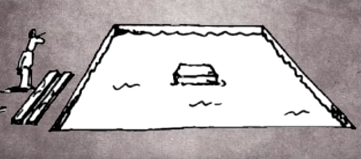 e0989945a Hádanka: Ako sa muž dostane na ostrovček vzdialený od brehu 3 metre, keď má  len 2,9 metra dlhé dosky? | interez.sk