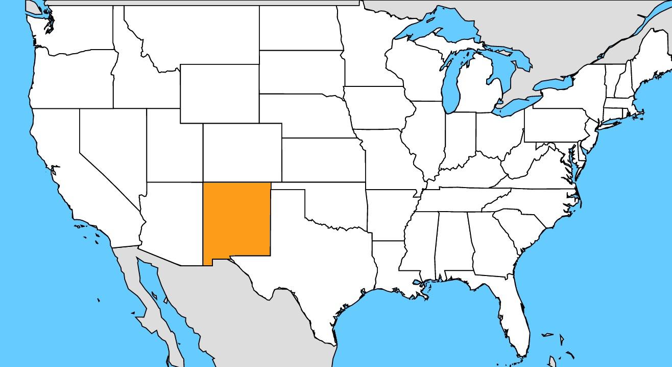 Fotogaleria Mapa Usa Nove Mexiko Interez Sk