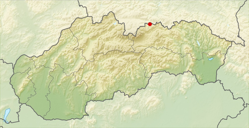 Aké pohorie je vyznačené na mape?