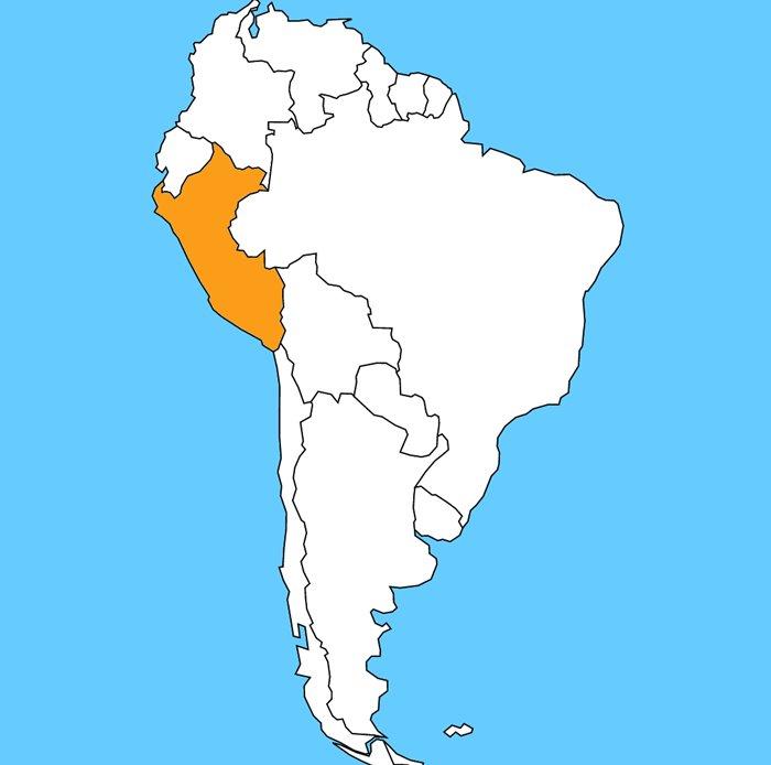 Fotogaleria Juzna Amerika Slepa Mapa Peru Interez Sk