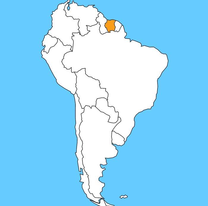 Aký štát je vyznačený na mape?
