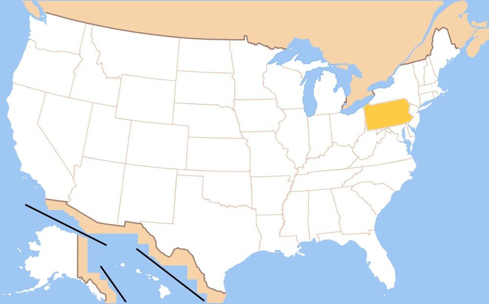Slepa Mapa Usa Dokazete Oznacit Vsetky Staty Usa Spravne