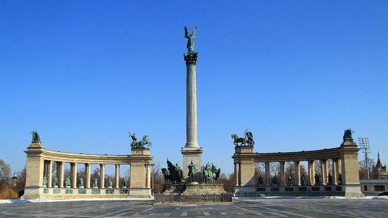 Námestie hrdinov v Budapešti