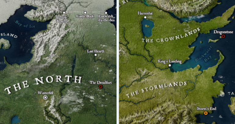 Mlady Ilustrator Vytvoril Detailnu Mapu Sveta Game Of Thrones
