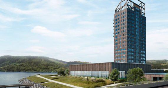 Najvyššia drevená budova sveta v Nórsku