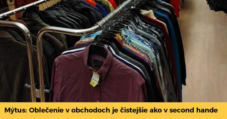 e0fc2708ce53 Oblečenie v klasických obchodoch je vraj čistejšie. Toto sú najväčšie mýty  o second handoch