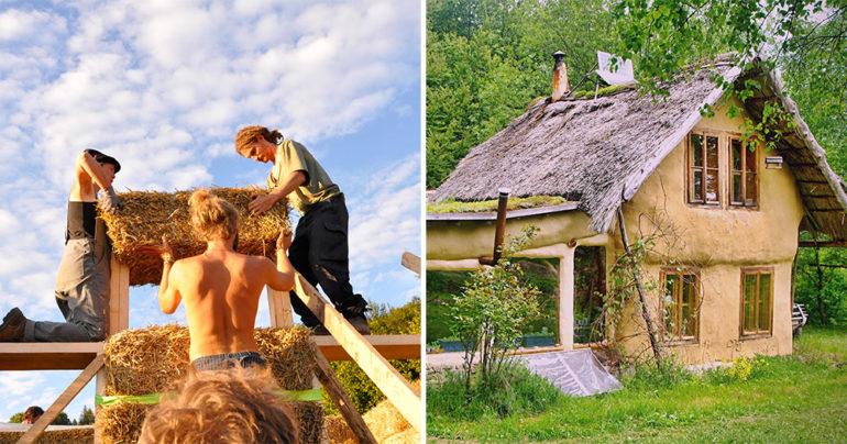 Priebeh stavby ekologického domčeku,