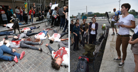 """Blokujú cesty a na uliciach """"umierajú"""". Karolína založila slovenskú odnož hnutia Extinction Rebellion"""