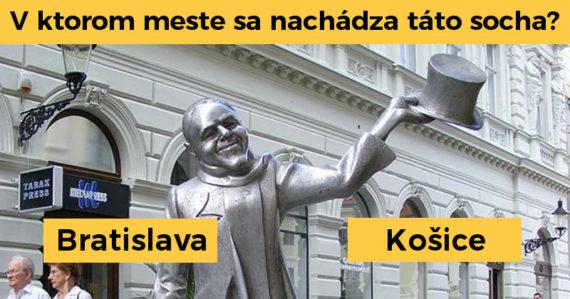 Viete v ktorom slovenskom meste sa nachádzajú tieto sochy? Tento kvíz zvládne iba skutočný znalec