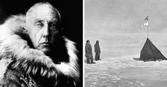 Odetí do vlčích a sobích koží minuli južný pól o 200 metrov. Amundsen klamal, o svojom cieli nikomu nepovedal