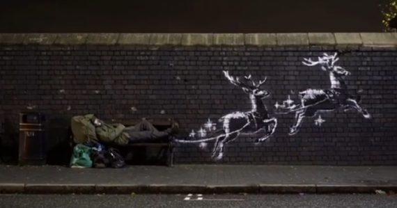 Umelec Banksy opäť ozdobil ulicu v Británii. Novým dielom poukazuje na problematiku ľudí bez domova