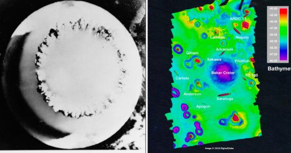 Úžasné, no hrozivé: Mapy morského dna ukazujú, aké jazvy vytvorili jadrové testy na atole Bikini