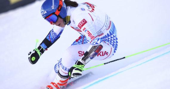 Petra Vlhová v 1. kole obrovského slalomu Svetového pohára v talianskom stredisku Sestriere