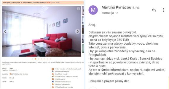 Na Bazoši okrádajú Slovákov: Falošné prenájmy bytov ponúkajú v každom väčšom meste premysleným spôsobom