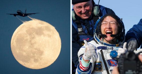 """Najlepšie fotografie minulého týždňa: Videli sme prvý """"supermesiac"""", skončila najdlhšia ženská vesmírna misia"""