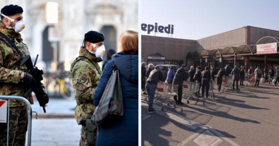 Taliansko uzavrelo 50-tisíc ľudí, nemajú opúšťať domovy. Francúzsko pripravuje nemocnice, Grécko kontroluje trajekty