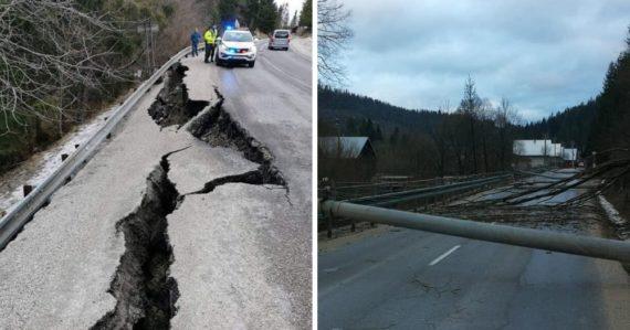Slovenskom sa prehnala silná víchrica: Lámala stromy a ničila cesty, voda strhla most