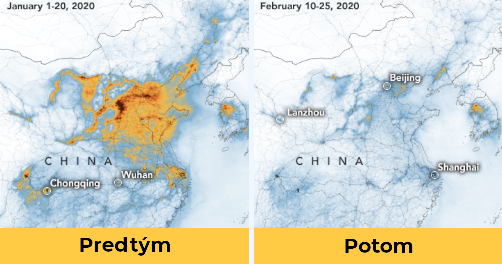 Satelitne Snimky Ukazuju Dramaticky Pokles Znecistenia Ovzdusia