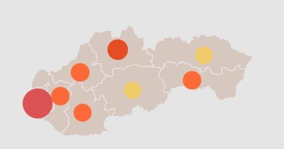 Koronavírus na Slovensku v mapách, grafoch a číslach: 363 pozitívnych vzoriek, 8220 testov