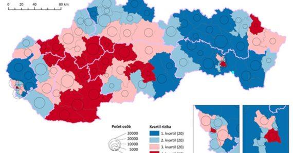 Ktoré okresy Slovenska sú počas pandémie najzraniteľnejšie? Demografi vytvorili mapu rizikových oblastí
