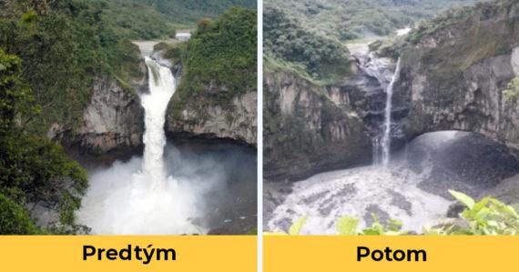 Najvyšší vodopád v Ekvádore zmizol. Pýcha krajiny sa zrejme stala minulosťou