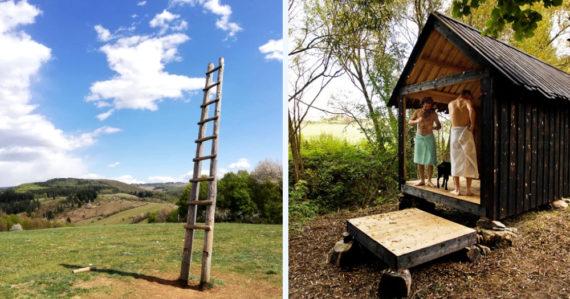 Malá obec pri Banskej Bystrici ukrýva unikátne miesta: Skratku do neba či saunu zadarmo uprostred prírody
