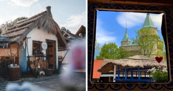 Folklórna Chyža v Bojniciach: Žiadne WIFI, len jedinečný zážitok a výhľad na zámok priamo z postele