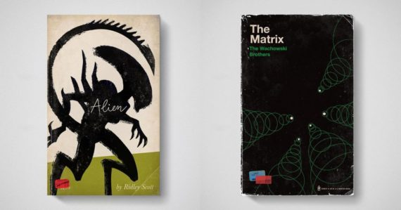 Ako by vyzerali obálky kníh známych filmov ako Votrelec či Matrix? Tento umelec na to má odpoveď