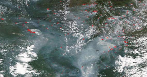 Sibír je opäť v plameňoch. Horí tam až 246 lesných požiarov, zaznamenali rekordné teploty