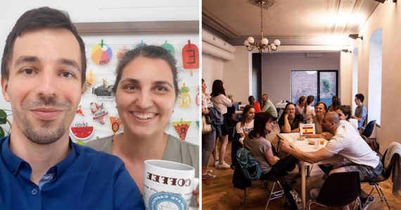 Lukáš a Martina stoja za unikátnym projektom: V Jazykovej kaviarni si precvičíte cudzí jazyk a spoznáte nových ľudí