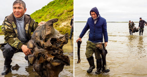 V jazere objavili skvele zachované kosti mamuta. Sú na nich väzivá aj srsť
