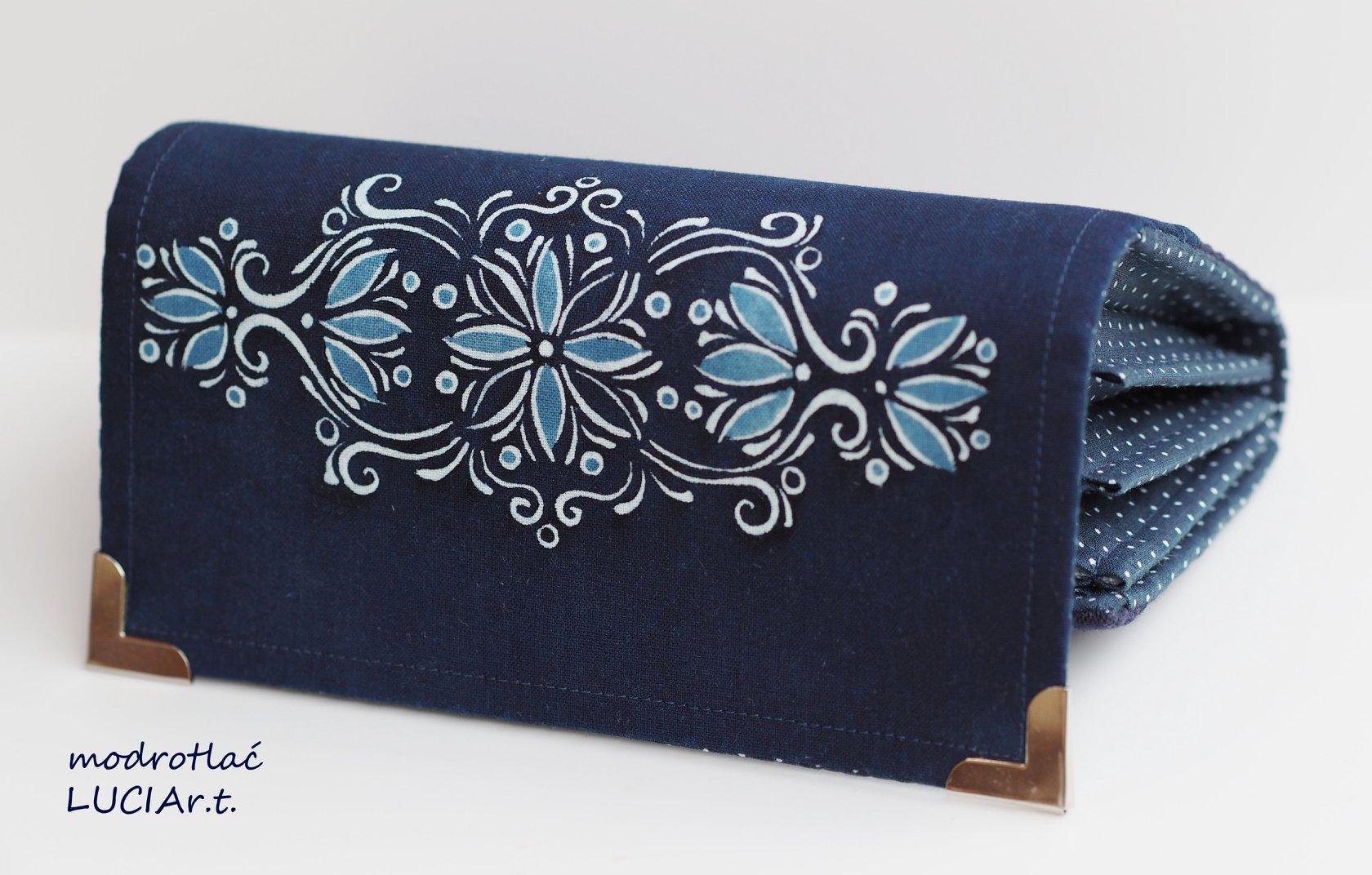 Modrotlač peňaženka