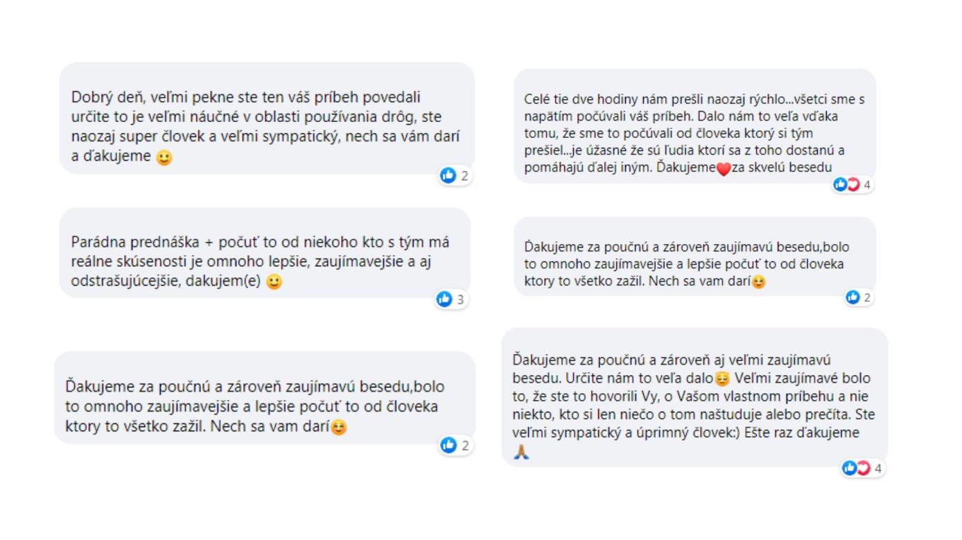 Samuel Bogár, OZ NEzávislosť, pozitívne komentáre od žiakov a študentov
